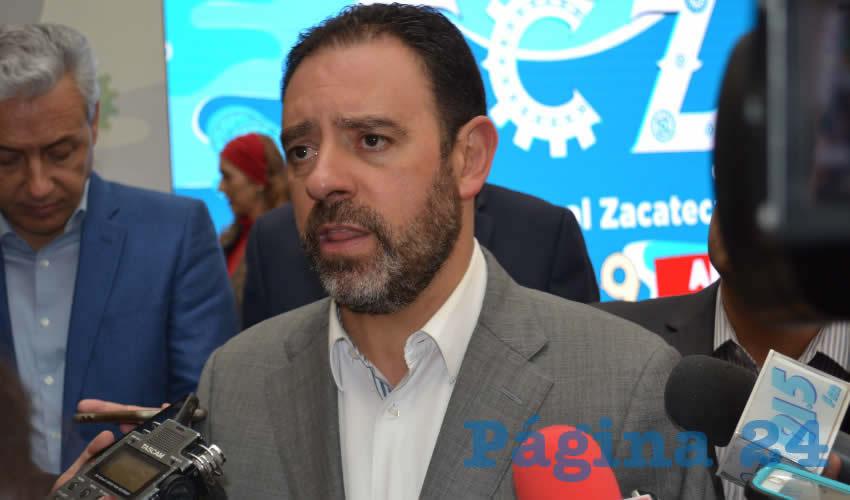 Alejandro Tello Cristerna, gobernador del estado de Zacatecas (Foto Merari Martínez)