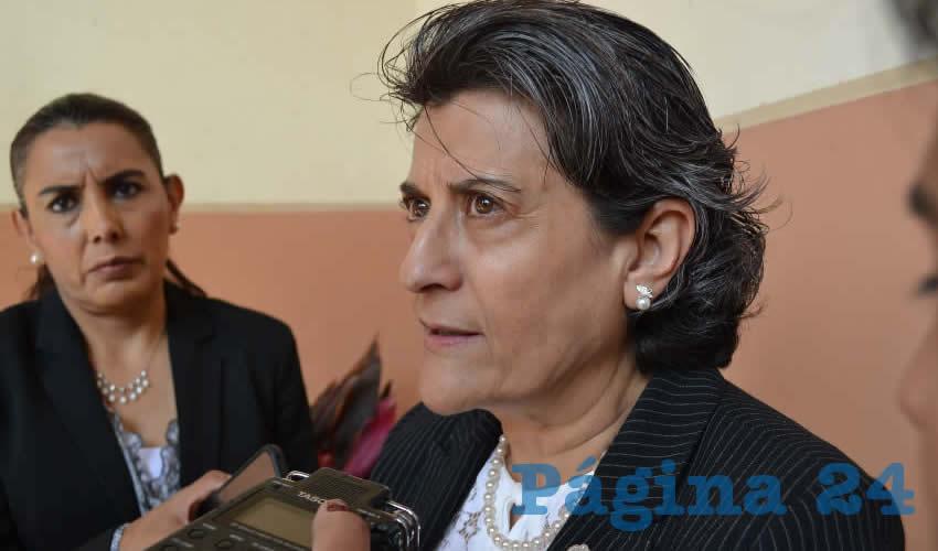 Gema Mercado Sánchez, titular de la Secretaría de Educación de Zacatecas (Seduzac) (Foto Merari Martínez)