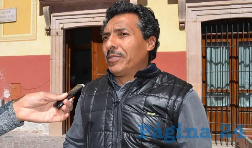 Marcelino Rodarte Hernández, integrante del Movimiento Democrático Magisterial de Zacatecas (MDMZ) (Foto Rocío Castro Alvarado)