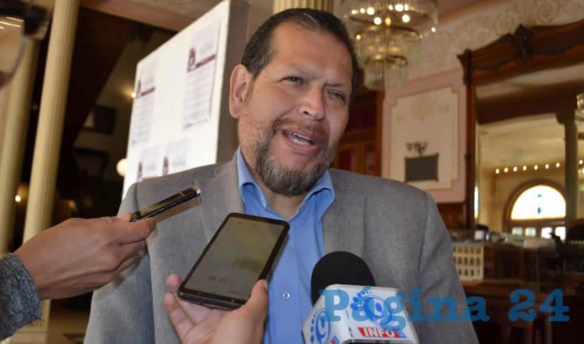 Pedro Martínez Arteaga, líder del Sindicato de Personal Académico de la Universidad Autónoma de Zacatecas (SPAUAZ) (Foto Merari Martínez)