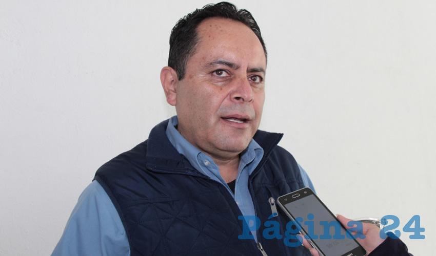 Antonio Caldera Alaniz, titular de la Dirección de Protección Civil (PC) Estatal (Foto Rocío Castro)