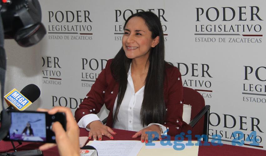 Karla Dejanira Valdez Espinoza, diputada por el Partido Verde Ecologista de México (PVEM) (Foto Rocío Castro Alvarado)