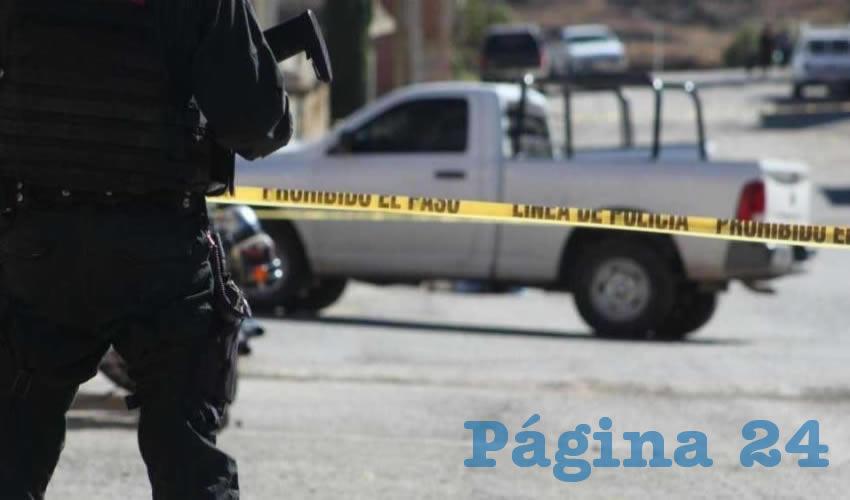 Policía ministerial en Calera de Víctor Rosales