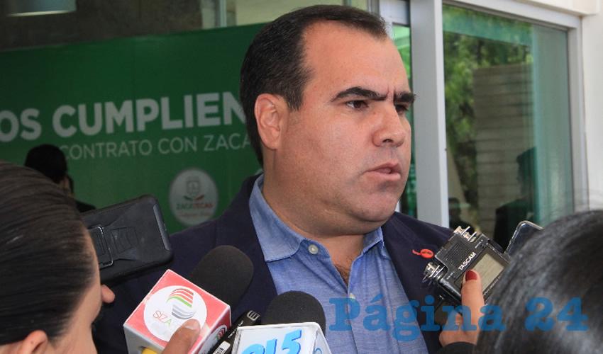 José Luis Pedroza Ochoa, secretario de Obras Públicas de gobierno del estado (Foto Rocío Castro)