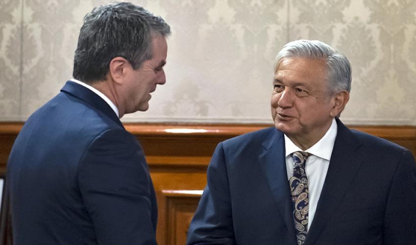 López Obrador se Reúne  con Presidente de la OMC