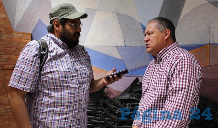 Javier Calzada Vázquez, diputado local por el extinto Partido Encuentro Social (PES) (Foto Rocío Castro Alvarado)