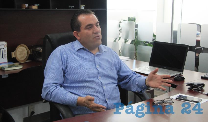 Luis Fernando Maldonado Moreno, titular de la Secretaría del Agua y Medio Ambiente (SAMA) (Foto Rocío Castro Alvarado)