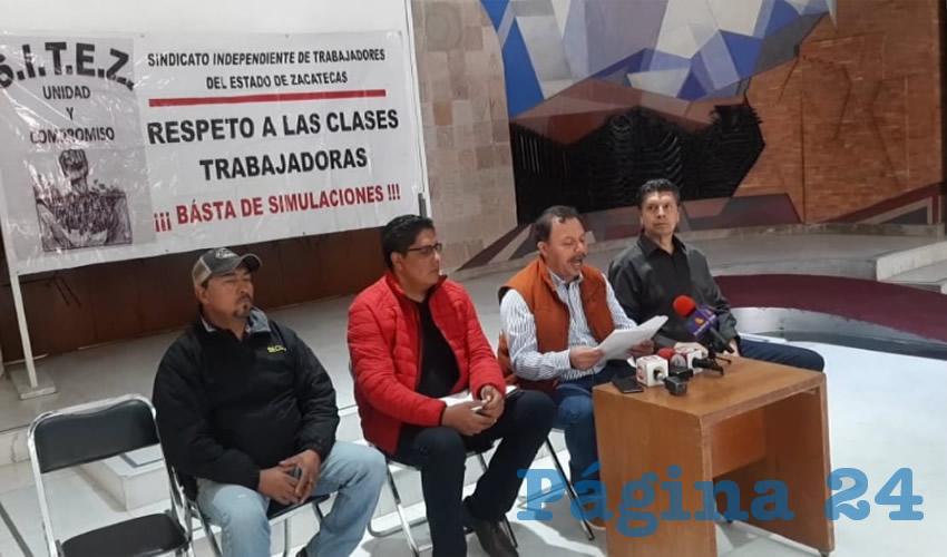 Alejandro Rivera Nieto en conferencia de prensa informó que el aumento salarial es por la inflación que se presentó este año, que sobrepasa el tres por ciento, por el encarecimiento de los energéticos (Foto Cortesía)