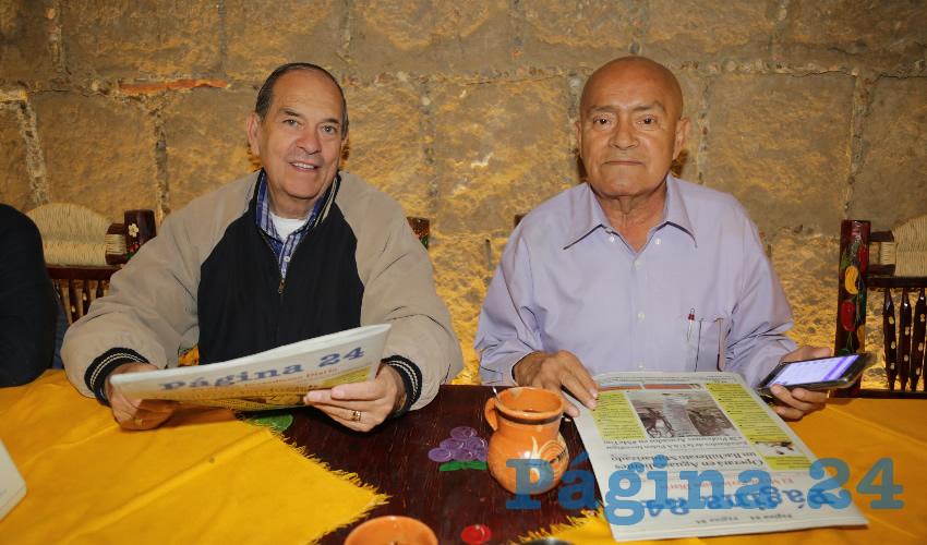 En La Mestiza almorzaron Raúl Villanueva Linaje y Ernesto Pinedo Ortega