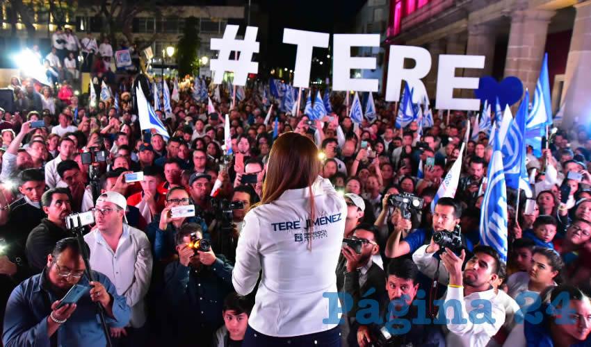 Tere Jiménez dio inicio a la histórica campaña que, por primera ocasión, representa la posibilidad de seguir construyendo un mejor Aguascalientes