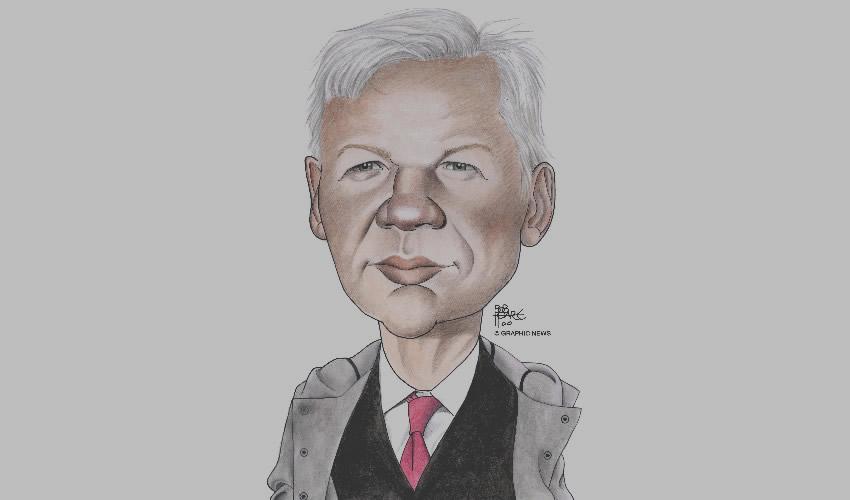 Julian Assange, editor en jefe de WikiLeaks (Ilustración: Graphic News)