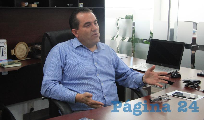 Luis Fernando Maldonado Moreno, titular de la Secretaría del Agua y el Medio Ambiente (SAMA) (Foto Rocío Castro Alvarado)