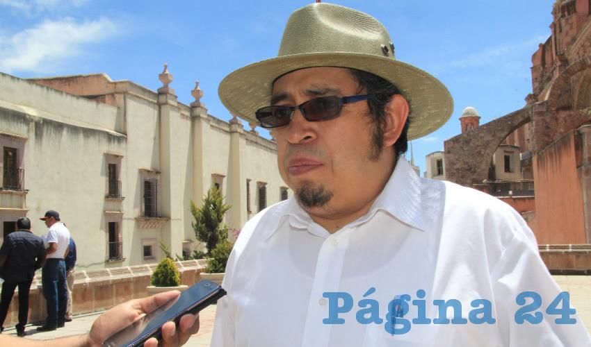 Samuel Rodríguez Escobar, titular de la Cartera de Prestaciones del Sindicato de Personal Académico de la Universidad Autónoma de Zacatecas (SPAUAZ) (Foto Rocío Castro Alvarado)
