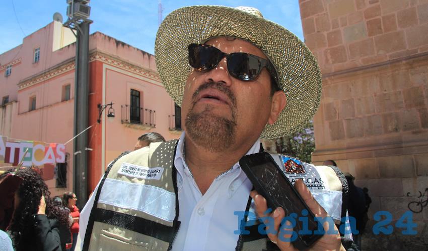 Tomás Belmontes Zacarías (Foto: Rocío Castro Alvarado)