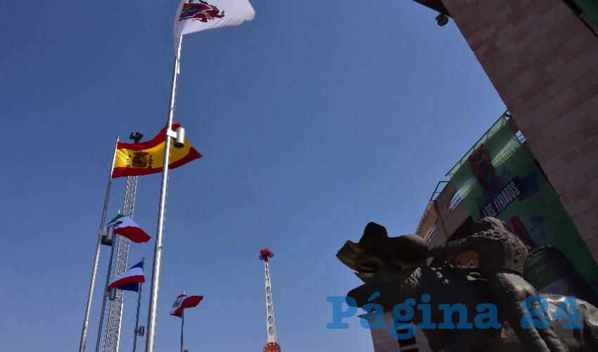 Izadas en la Monumental las Banderas de los Países más Taurinos del Mundo