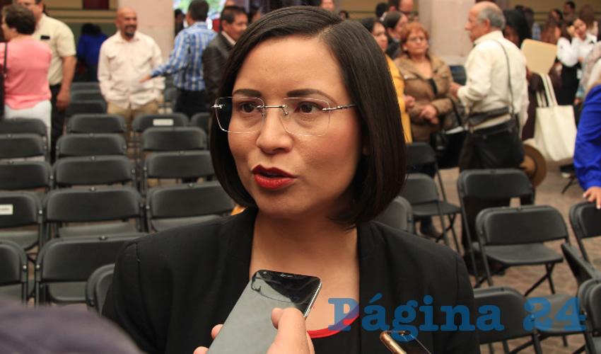 María de Luz Domínguez Campos, titular de la Comisión de Derechos Humanos del Estado de Zacatecas (CDHEZ) (Foto Rocío Castro)