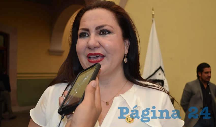 Mónica Borrego Estrada, se pronunció a favor de que se mejore las estrategias de seguridad; puntualizó que los legisladores están convencidos de la necesidad de regresar la tranquilidad a la sociedad para buscar mejores condiciones para todos. (Foto: Merari Martínez)