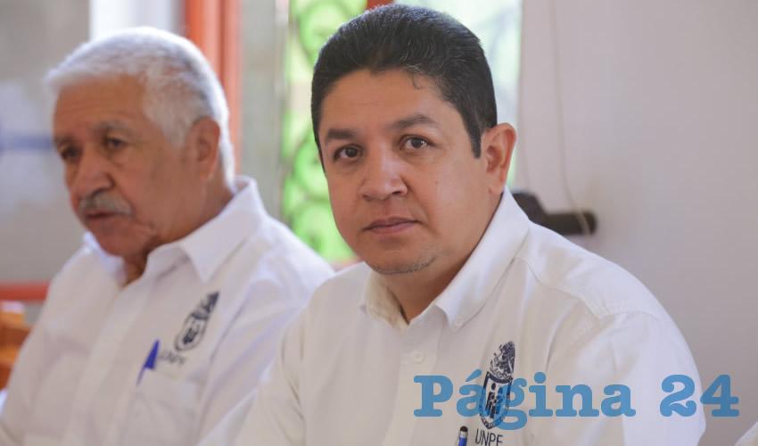 Miguel Raygoza Mejía, presidente del Comité Estatal de la UNPF (Foto: Eddylberto Luévano Santillán)