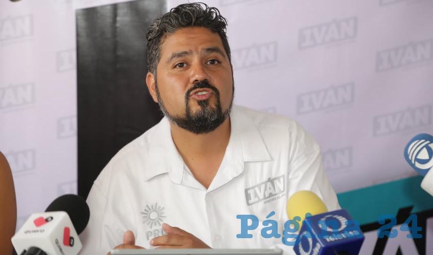 Iván Sánchez Nájera, candidato del PRD a la Alcaldía de Aguascalientes (Foto: Eddylberto Luévano Santillán)