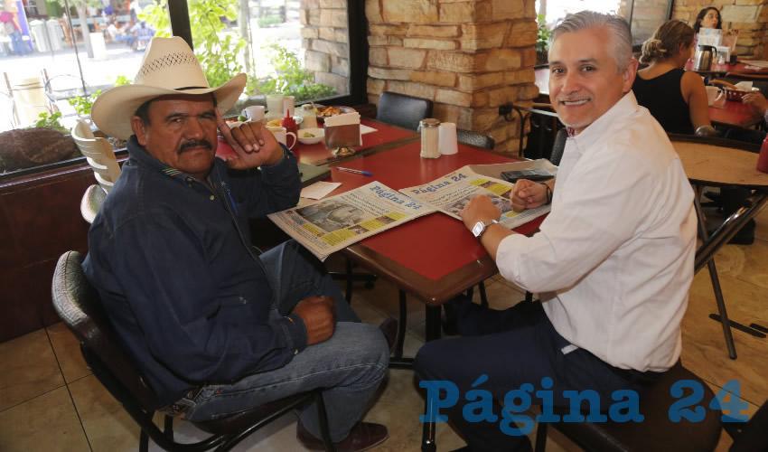 En Las Antorchas almorzaron Abel Lariz Serna y Julio César Medina Delgado