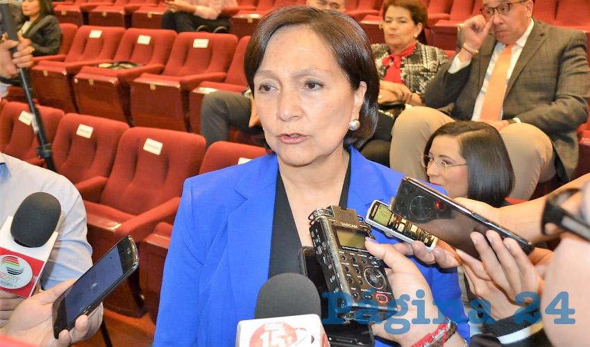 Amalia García Medina, exgobernadora de Zacatecas (Foto Merari Martínez)