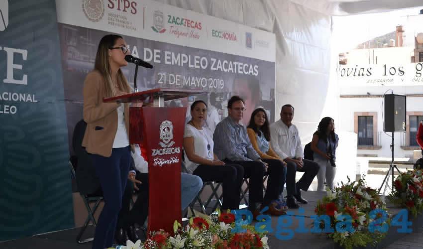 El Servicio Nacional de Empleo (SNE) en Zacatecas, realizó la cuarta Feria del Empleo del año, y la número 47 en lo que va en la administración estatal de Alejandro Tello Cristerna (Foto Merari Martínez)