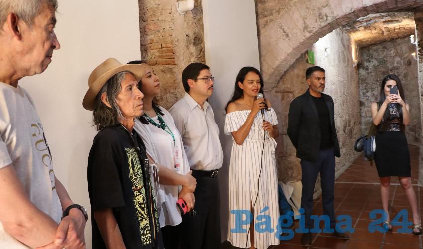 En la bóveda del Centro Cultural Ciudadela del Arte fue inaugurada la exposición de gráfica para celebrar los primeros 10 años del taller Veta Gráfica, que a lo largo de esta década se ha dedicado a fortalecer la producción y difusión de este género en el estado de Zacatecas y el país (Foto Rocío Castro Alvarado)