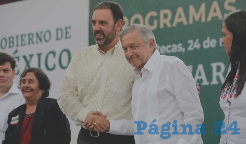 Alejandro Tello Cristerna y Andrés Manuel López Obrador
