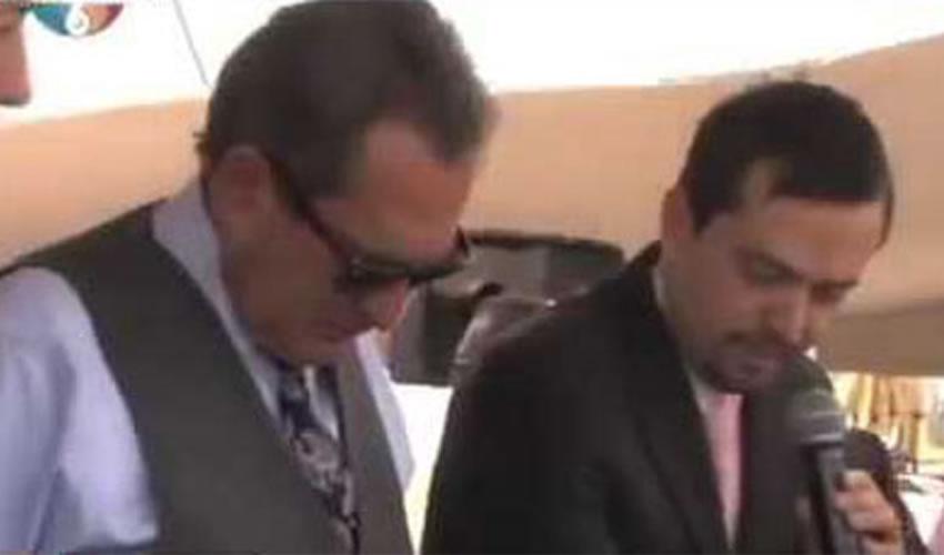 """El """"gobernador"""" Carlos Lozano de la Torre y el empresario Arturo Ávila"""