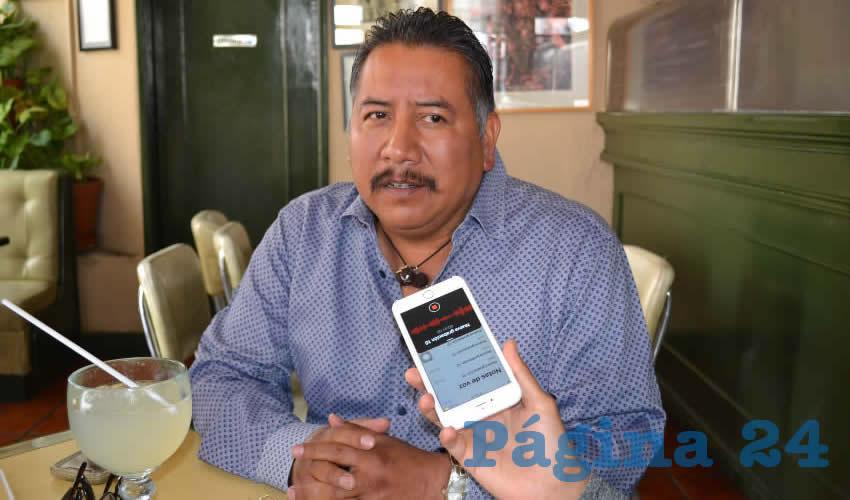 Felipe Pinedo Hernández, miembro del Frente Popular de Lucha por Zacatecas (FPLZ) (Foto Merari Martínez)