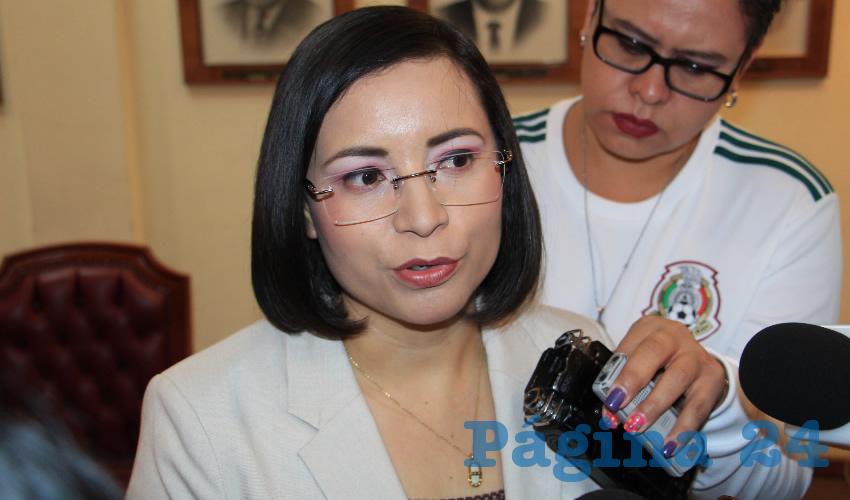 María de la Luz Domínguez Campos, presidenta de la Comisión de Derechos Humanos del Estado de Zacatecas (CDHEZ) (Foto Rocío Castro)