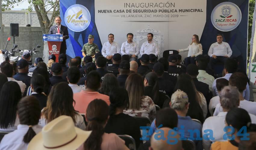 Alejandro Tello reitera su compromiso en el fortalecimiento de las policías municipales, de ahí la inversión de 5 mdp para el inmueble