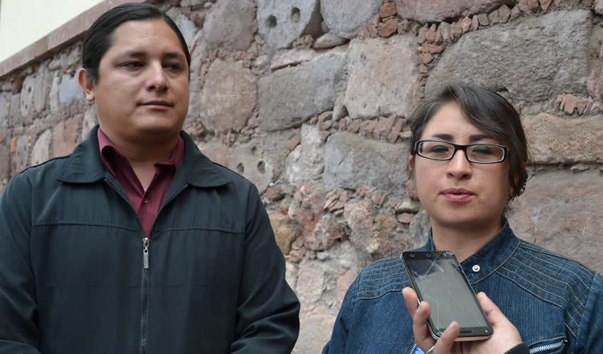 Claudia Elena Domínguez y el encargado de Difusión, Guillermo Dorado, comentaron que la iniciativa surgió con motivo de dar a conocer la importancia del recinto en el propio municipio (Foto: Merari Martínez)