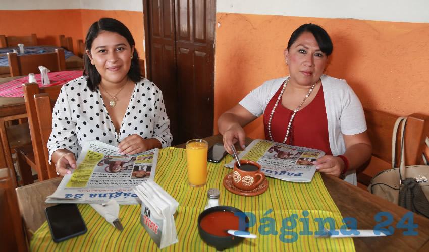 En el restaurante El Farolito almorzaron Daniela Robledo y Alejandra Robledo Sámano