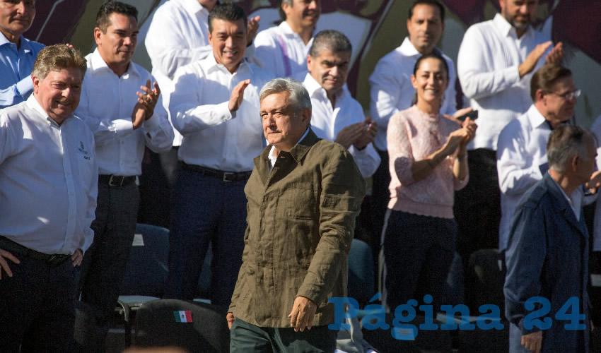 Andrés Manuel López Obrador, en en el acto de la Unidad por la Dignidad y la Amistad (Foto: Omar Martínez/ Cuartoscuro)