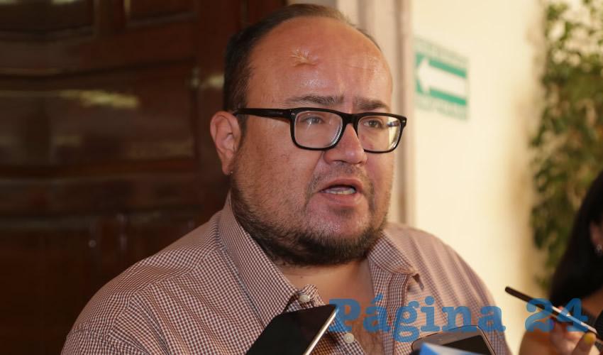 Óscar Salvador Estrada Escobedo, regidor del Ayuntamiento (Foto: Eddylberto Luévano Santillán)