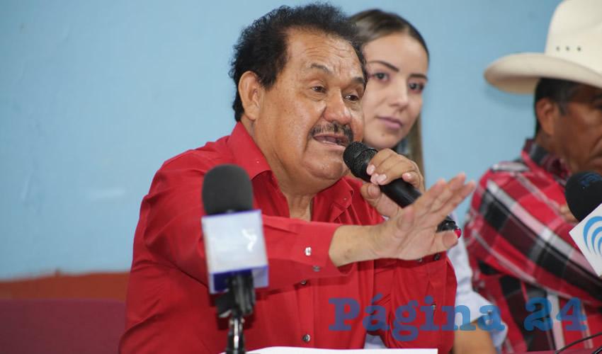 Manuel Medina Ortega, líder del Frente de Lucha Campesina (Foto: Eddylberto Luévano Santillán)