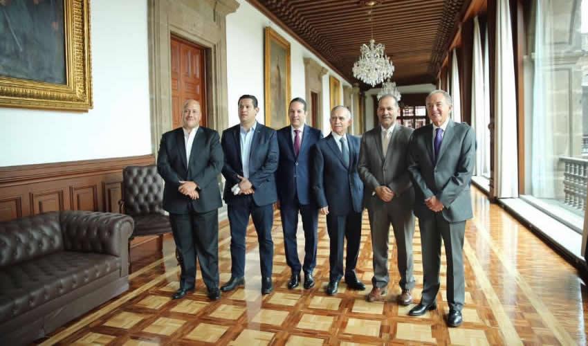 Los gobernadores presentaron el proyecto de la Alianza Centro-Bajío ante el jefe de la Oficina de la Presidencia de la República, Alfonso Romo Garza