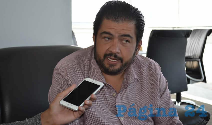 Roberto Luévano Ruiz, secretario de Desarrollo Social del gobierno estatal (Foto Merari Martínez)