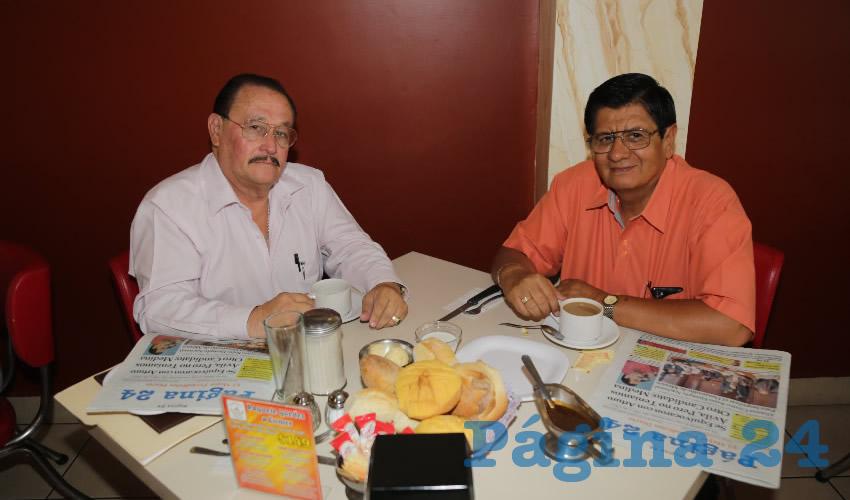 En el restaurante Mitla almorzaron José Ismael Medina y José Manuel Rosales Cortés