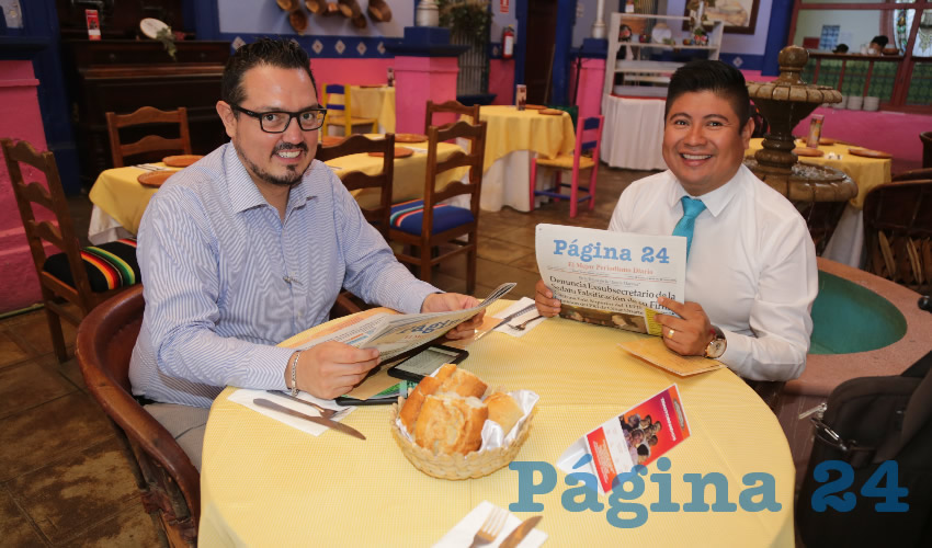 En La Saturnina almorzaron Jorge Luis Gómez Gómez y Pedro Antonio Reyes Florentino