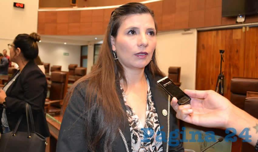 Gabriela Pinedo Morales, diputada local de la bancada del Partido del Trabajo (PT) (Foto Merari Martínez)