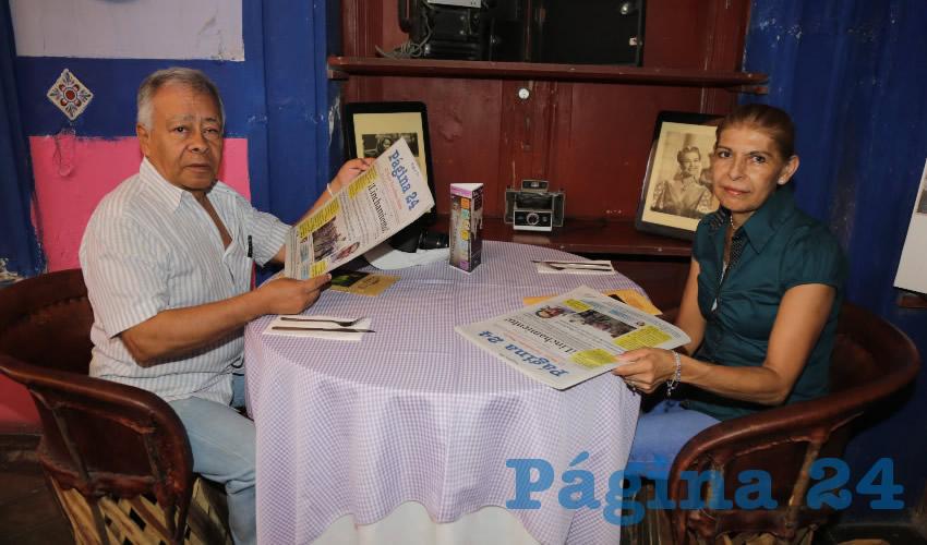 En La Saturnina desayunaron Joaquín Piña Sánchez y Leticia Arteaga Morán