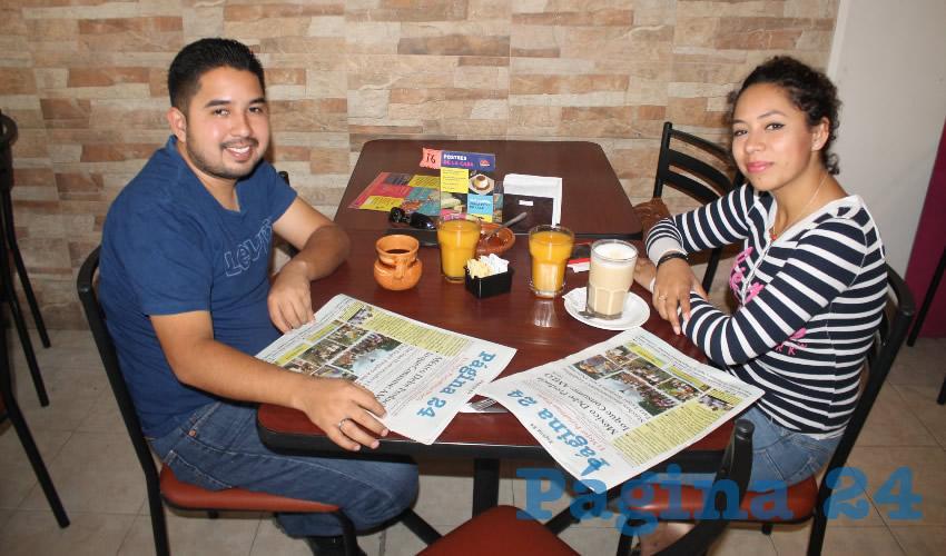Julio Martínez Castro y Edna Vargas Rivera almorzaron en el restaurante La Madero