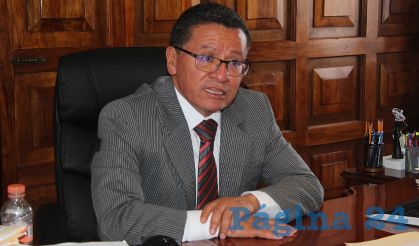 Armando Ávalos Arellano, magistrado presidente del Tribunal Superior de Justicia del Estado de Zacatecas (TSJEZ) (Foto Rocío Castro Alvarado)