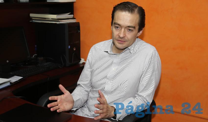 Miguel Romo Reynoso, regidor del Ayuntamiento de Aguascalientes (Foto: Eddylberto Luévano Santillán)