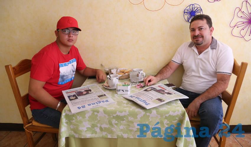 En el Restaurante La Estación almorzaron Saúl Pérez Chávez y Emmanuel Pérez Marín