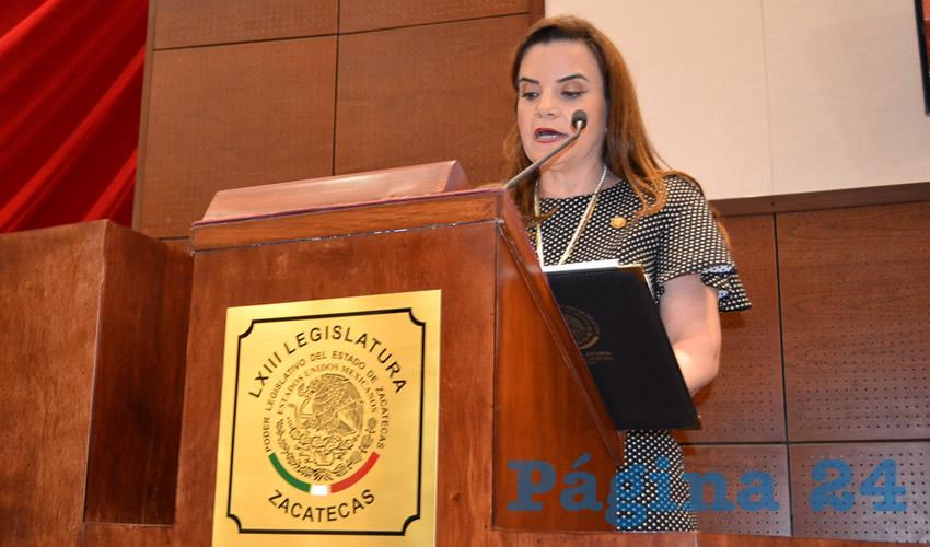 Susana Rodríguez Márquez, diputada local por el Partido Verde Ecologista de México (PVEM)