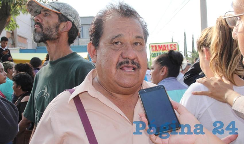 Manuel Medina Ortega, líder del Frente de Lucha Campesina