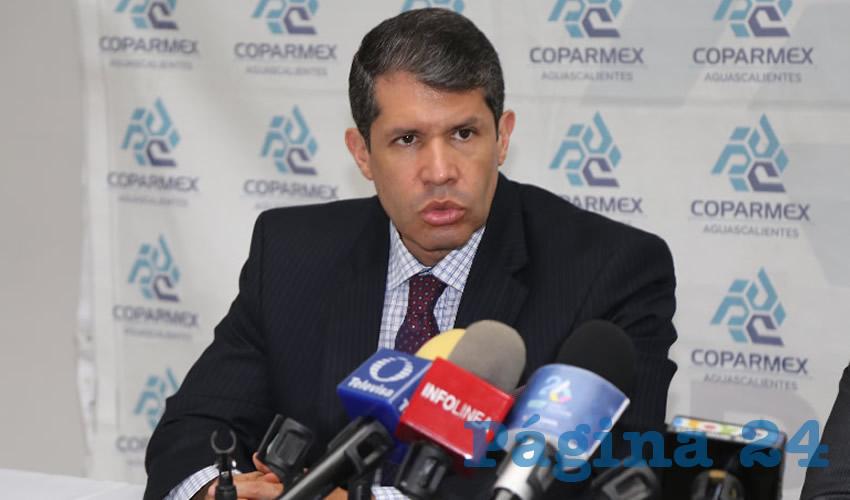 Raúl González Alonso, presidente estatal de la Coparmex (Foto: Eddylberto Luévano Santillán)